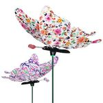 "7"" Windywings Floral Garden Stakes (Set of 6)"