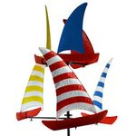 "72"" Sailboat Racing Wind Spinner"