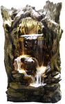 "79"" Giant Tropical Waterfall Fountain w/LED Lights"
