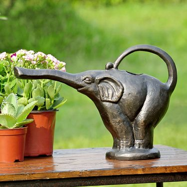 Aluminum Elephant Watering Can - Click to enlarge