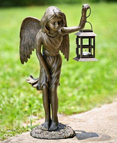 Angel Girl Candle Lantern - Click to enlarge