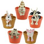 Animal Plant Pot Huggers (Set of 5)