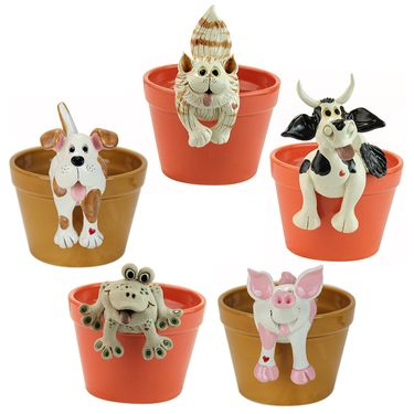 Animal Plant Pot Huggers (Set of 5) - Click to enlarge