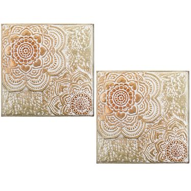 Antique Gold Medallion Wall Decor (Set of 2) - Click to enlarge