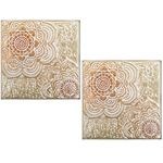 Antique Gold Medallion Wall Decor (Set of 2)
