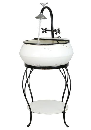 Antique Vintage Sink Fountain &  Stand - Click to enlarge