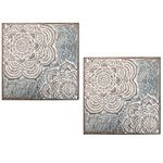 Antique White Medallion Wall Decor (Set of 2)