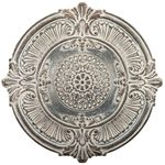 Antique White Medallion Wall Plaque