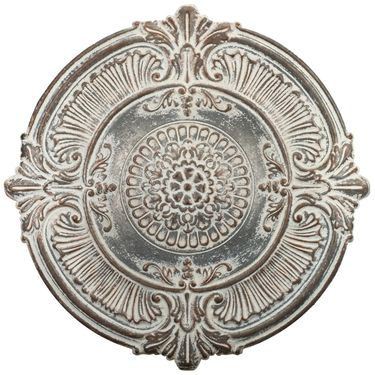 Antique White Medallion Wall Plaque - Click to enlarge