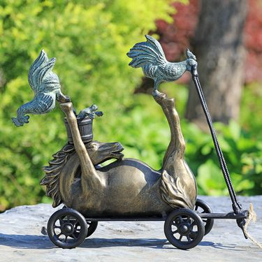 Barnyard Racer Pull Along Statue - Click to enlarge