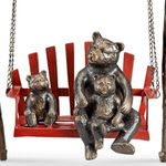 Bears & Cubs Porch Swing Sculpture