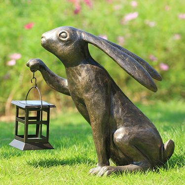 Big Bunny Solar LED Garden Lantern - Click to enlarge