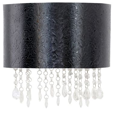 Black Flower Textured Sconce - Click to enlarge