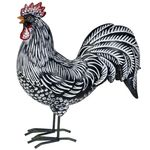 Black Rooster w/White Stripes