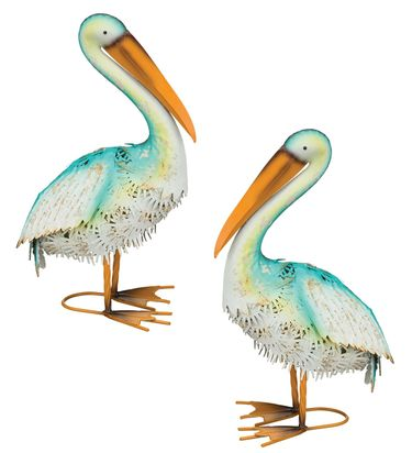 Blue Bayou Resting Pelicans (Set of 2) - Click to enlarge