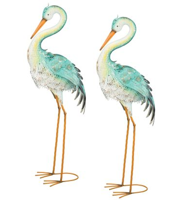 Blue Bayou Preening Herons (Set of 2) - Click to enlarge