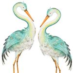 Blue Bayou Preening Herons (Set of 2)