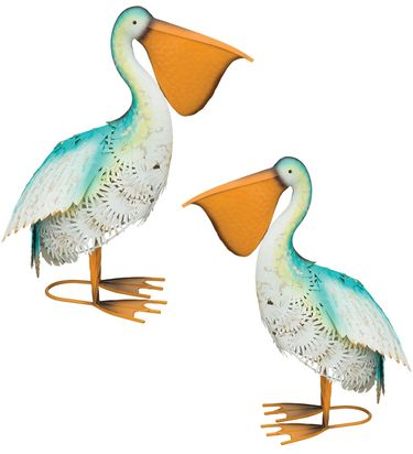 Blue Bayou Feeding Pelicans (Set of 2) - Click to enlarge