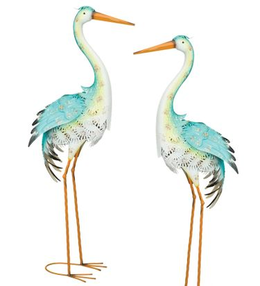 Blue Bayou Standing Herons (Set of 2) - Click to enlarge