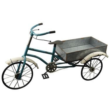 Blue Bike Wagon Planter - Click to enlarge