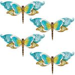 Blue Glass Dragonfly Wall Decor (Set of 4)