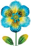"42"" Blue Isabel Glass Flower Stake"