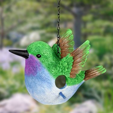 Green Hummingbird Bird House - Click to enlarge
