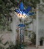 Solar Bluebird LED Light Wind Chime