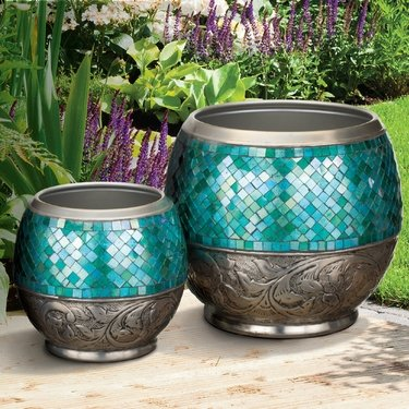 Blue Jewel Planters Set - Click to enlarge