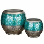Blue Jewel Planters Set