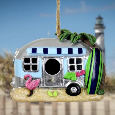 Blue Retro RV Bird House - Click to enlarge