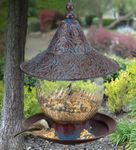 Blue Swirl Bird Feeder