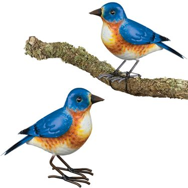 Bluebird Tree Branch Decor (Set of 2) - Click to enlarge