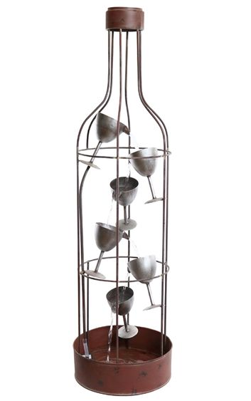 Bottle Shaped Wine Glasses Fountain Only 529 99 At Garden Fun