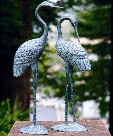 Brass Love Cranes (Set of 2) - Click to enlarge