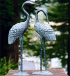 Brass Love Cranes (Set of 2)