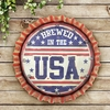 """Brewed in the USA"" Cap Marquee - Dual Powered"