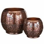 Bronze Jewel Planters Set