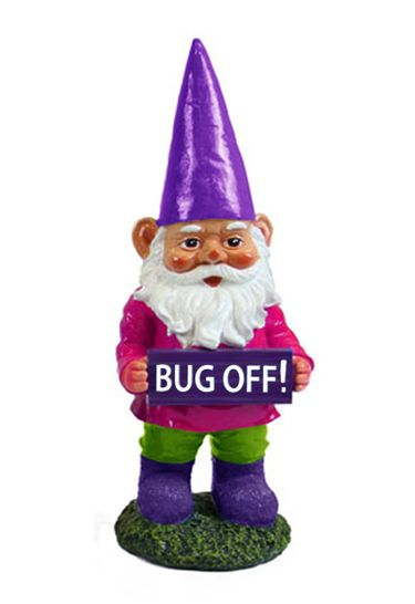 Bug OFF! Gnome Garden Statue - Click to enlarge