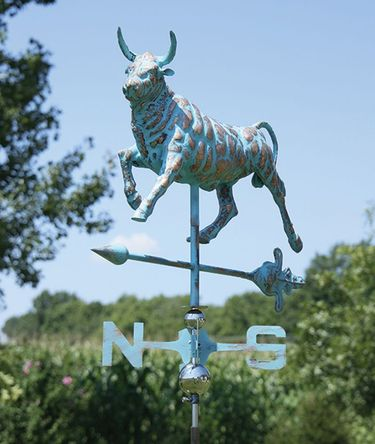 Bull Weathervane - Copper Patina - Click to enlarge