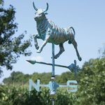 Bull Weathervane - Copper Patina