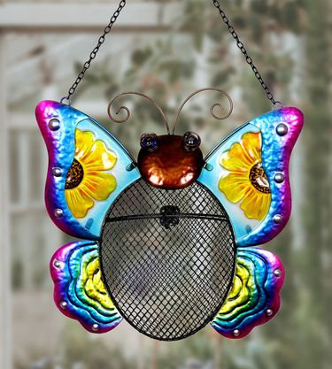 Butterfly Mesh Wild Bird Seed Feeder - Click to enlarge