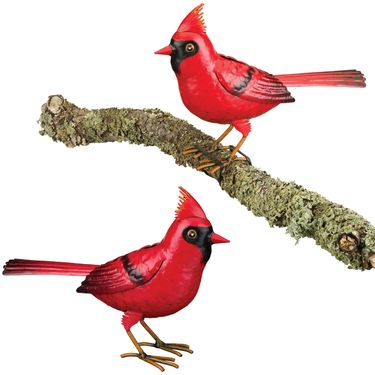 Cardinal Tree Branch Decor (Set of 2) - Click to enlarge