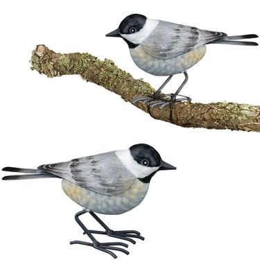 Chickadee Tree Branch Decor (Set of 2) - Click to enlarge