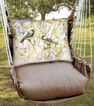 Chocolate Chickadee Birds Hammock Chair Swing Set