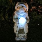 Christmas Boy w/LED Snowball LED Light