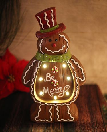 Christmas Gingerbread Man Decor (Set of 2) - Click to enlarge