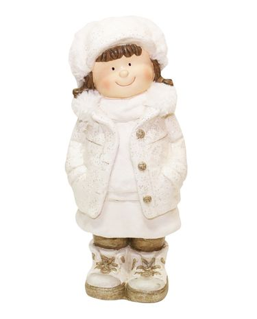 Christmas Girl w/Hands in Pocket Statue - Click to enlarge