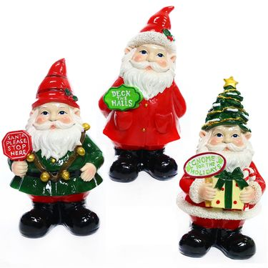 Christmas Holiday Gnomes (Set of 3) - Click to enlarge