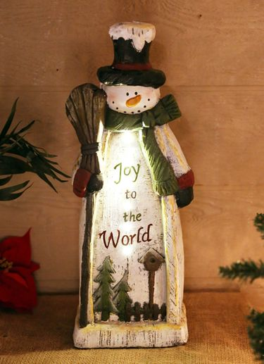 Christmas Snowman Statue Decor (Set of 2) - Click to enlarge